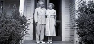 Truman at their home in Independence Missouri